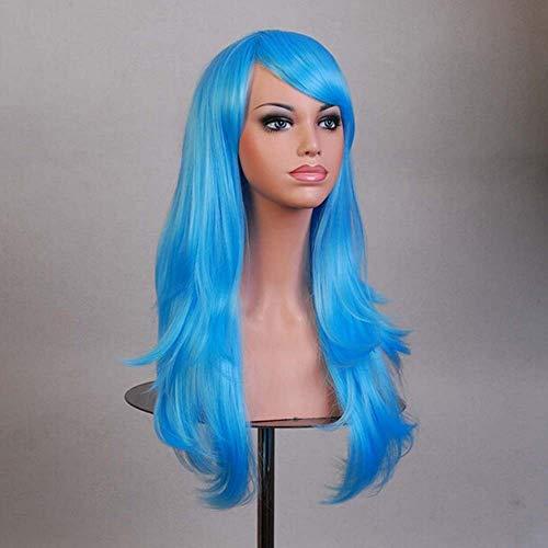 Perücke Lange Rolle Lange Flauschige Wellige Lockige Haare Schräge Liu Hai Hitzebeständige Faser Partei Täglichen Gebrauch Cosplay Synthetische Perücke