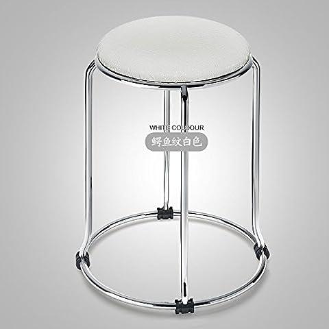 Acciaio inossidabile metallo coccodrillo bianco sgabello in pelle larghezza Leisure Chair sedia ristorante Alta Sgabello Sgabello E011 bambino