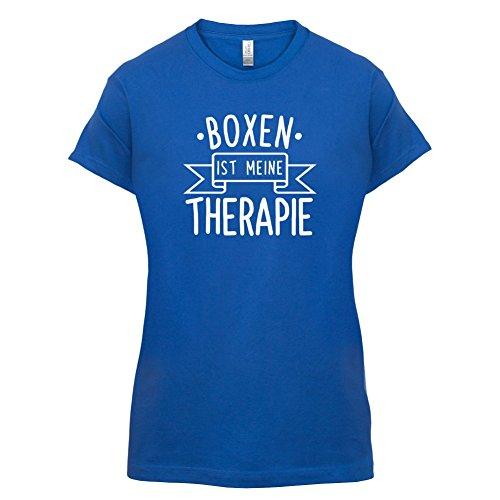Boxen ist meine Therapie - Damen T-Shirt - 14 Farben Royalblau