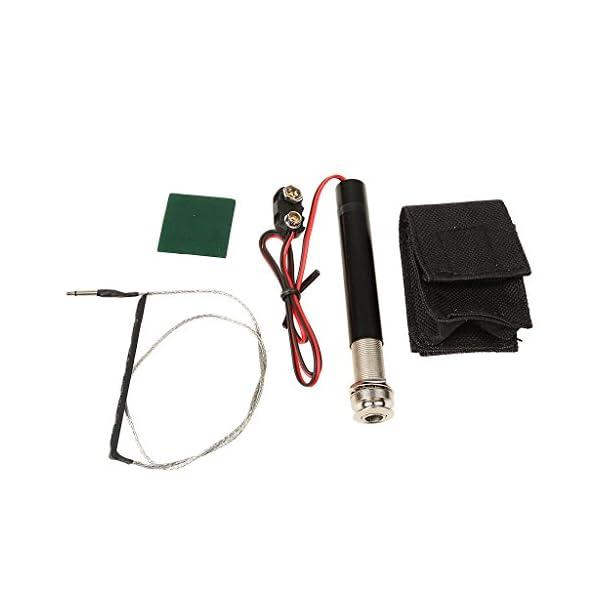 MagiDeal Set di Endpin Jack Preamplificatore Piezo Pickup Kit per Chitarra Acustica Accessorio