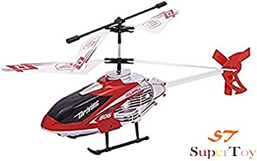 Super Toy Flying Remote Control Helicopter with Lights & Charger - Multi Color