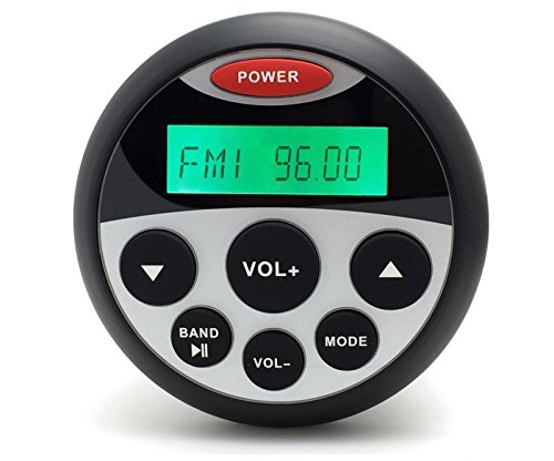 Radio wasserdicht für Auto / Boot FM- / DAB-Radio USB MP3AUX BT rund 4x 45W (Runde-flash-laufwerk)