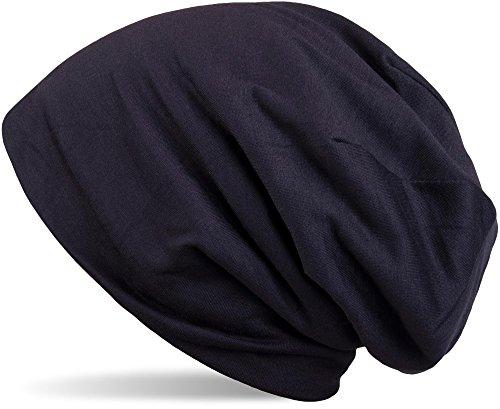 styleBREAKER klassische Unisex Beanie Mütze mit inliegendem Fleece Stoff 04024008, Farbe:Midnight-Blue -