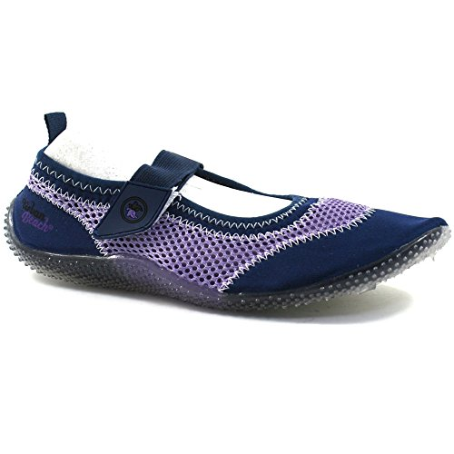 Urban Beach Strappy, Scarpe da immersione donna blu Aqua Blu (blu scuro)