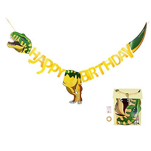 osaurier Happy Birthday Girlande, Partydeko Banner, Dino Geburtstags Dekoration für Kinder Jungen Mädchen, Geburtstagsdeko Partyset ()