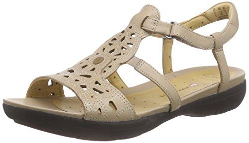 Clarks - A Valencia, Beige Zapatos De Tacón Alto De Mujer (cuero De Arena)