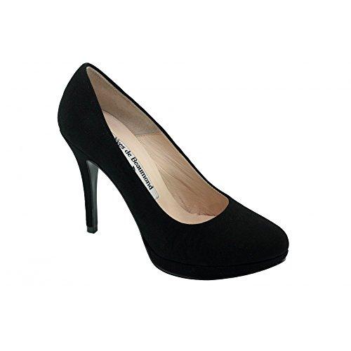 Escarpins Femme Noir à Plateforme - Ketline - Yves De Beaumond ® N-Noir