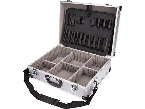 DKB XL Alukoffer Silber Aluminiumkiste Werkzeugkiste Werkzeugkoffer Aufbewahrungskoffer Alukiste