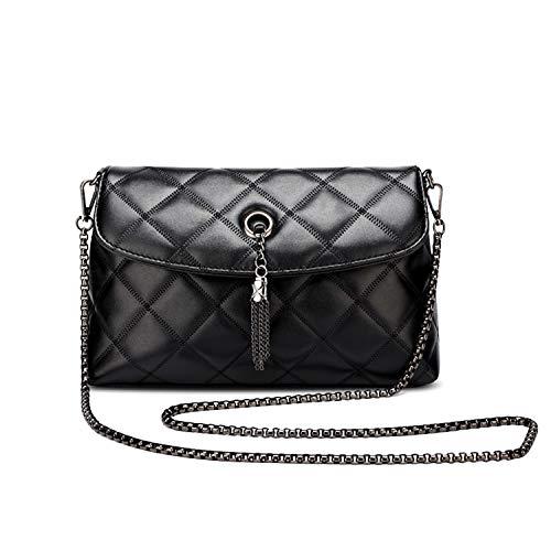 4c471cd350e Yidarton Women Black Chain Cross Body Bags Plaid Quilted Evening Clutch  Handbag Fashion Street Shoulder Bag