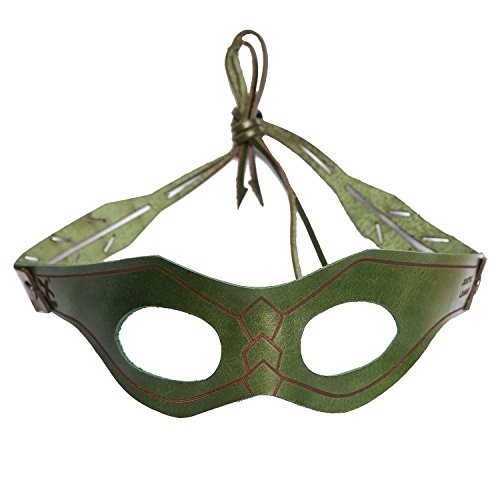 Green Arrow Flash Kostüm - Dark Green Mask Cosplay Oliver Halloween Green Man Leather Eye Patch Masks Costume Accessories New Version