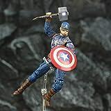 CHENF Die Avengers Endgame Captain America Puppe Figur, bewegliches Modell Ornamente gehören Schild Thor Hammer -
