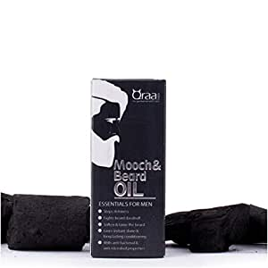 Qraa Men Mooch/Beard Oil for Beard Growth/Nourishment enriched with essential Oils, 30ml