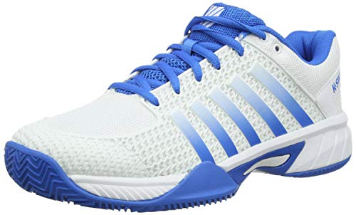 K-Swiss Performance Herren Express Light HB Tennisschuhe, Weiß (White/Brilliant Blue 128M), 41.5 EU