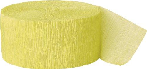Unique Party Serpentina de papel crepé para fiestas Color amarillo canario 24 cm 6306