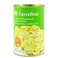 M Carrefour Mushrooms Pieces And Stems - 425 gm