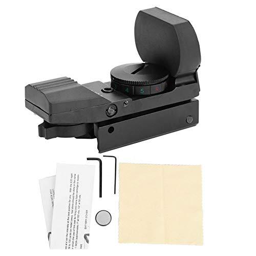 Visier mit 11mm/20mm Schiene Airsoft Leuchtpunktvisier Scope Reflexvisier Jagdoptik Zielfernrohr holographischer grüner roter Taktische Reflex Sight für Jagd Softair Pistole(11mm) ()