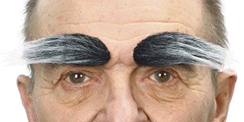 ende Neuheit Fälscher Augenbrauen für Erwachsene Salz und Pfeffer Farbe ()