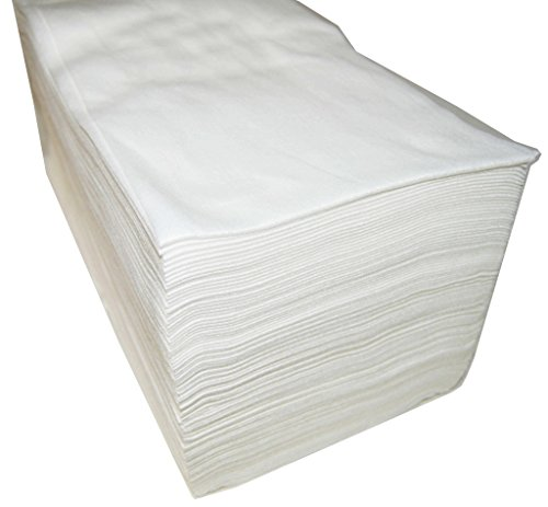 Plasticaps Lot de 100serviettes jetables en tissu spunlace de 40x 80cm, blanc
