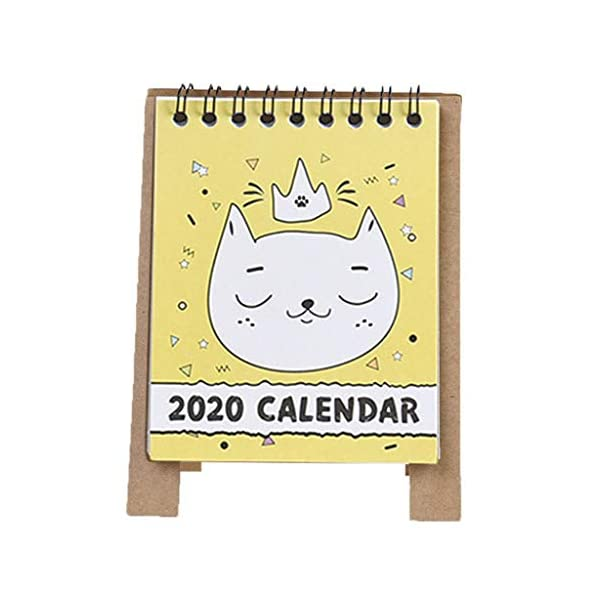 RROVE 2020 Table Calendar Cute Cartoon Desktop Paper Calendar, Multi-Function Timetable Plan Notebook 3