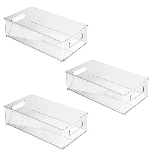 InterDesign 70530M3EU Deep Container, 3er Pack, Kunststoff, Transparent, 36,83 x 20,32 x 10,16 cm Speisekammer-organizer-körbe