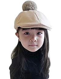 IBLUELOVER Boina niño Niña niño Gorra Plate Gorros Invierno Caliente de  Lana Sombrero clásico Artista francés 8dea1d15670