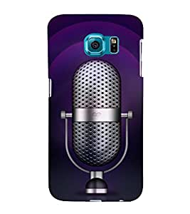Music Mic 3D Hard Polycarbonate Designer Back Case Cover for Samsung Galaxy S6 Edge+ :: Samsung Galaxy S6 Edge Plus :: Samsung Galaxy S6 Edge+ G928G :: Samsung Galaxy S6 Edge+ G928F G928T G928A G928I