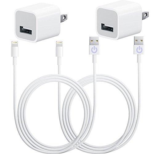 justjamz 4in1Set caricabatterie 2x 3piedi trasferimento dati sincronizzazione 8pin Lightning 2tasselli e 2cavi usb per iphone 55C 5S 66S 6Plus iPad 23Air, iPod