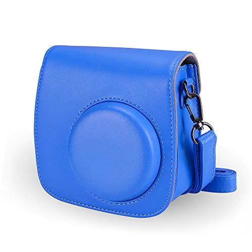 Famall Instax Mini 9 Tasche für Fujifilm Instax Mini 9 Kamera mit Schultergurt und Tasche - Kobalt blau