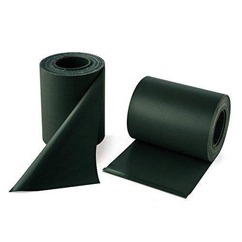 Blumfeldt Pureview Store 60 - Brise-Vue/Pare-Vent en PVC pour clôtures, balcons... (Lot de 2 Rouleaux 35m sur 19cm, épaisseur 450 g/m², 30 Rails de Serrage) - Vert