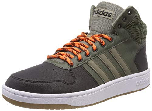 e265a4dcb7 Adidas Hoops 2.0 Mid, Chaussures de Gymnastique Homme, Vert (Base  Green/Trace