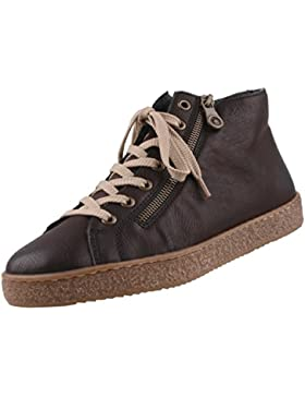 Rieker Damen High Top Sneaker Braun