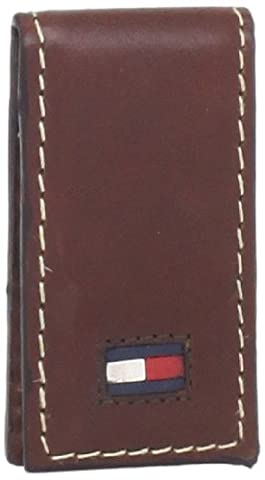 Tommy Hilfiger Magnetic Square End Leather Money Clip