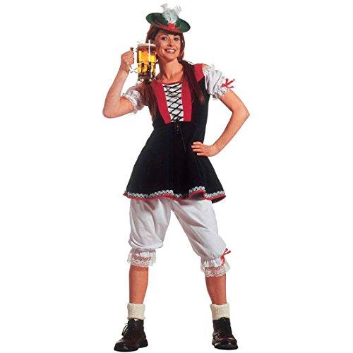 Oktoberfest Tracht Damen Trachten Dirndl Kostüm M 38/40 Bayrisches Trachtenkleid Bayerin Wiesn Trachtendirndl Faschingskostüm Heidi Kleid Alpenmädchen Faschingskostüm Bayern Mottoparty Verkleidung Karneval Kostüme (Kostüm Dirndl Oktoberfest)