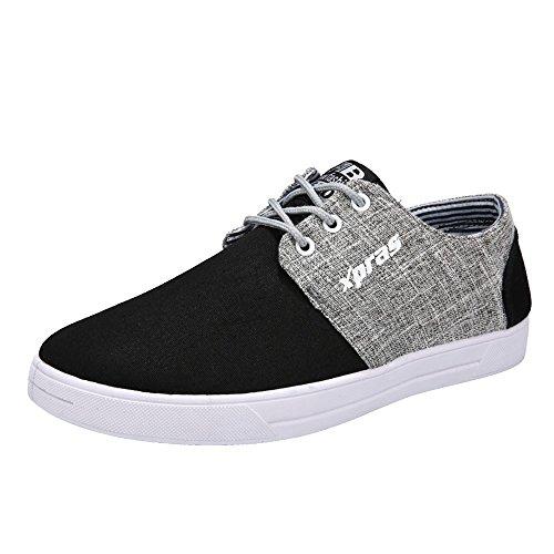 GongzhuMM Sneakers Homme Chaussures en Toile College Style pour Étudiant Baskets en Tissu Espadrilles Chaussures de Sport à Lacets 39-42.5 EU