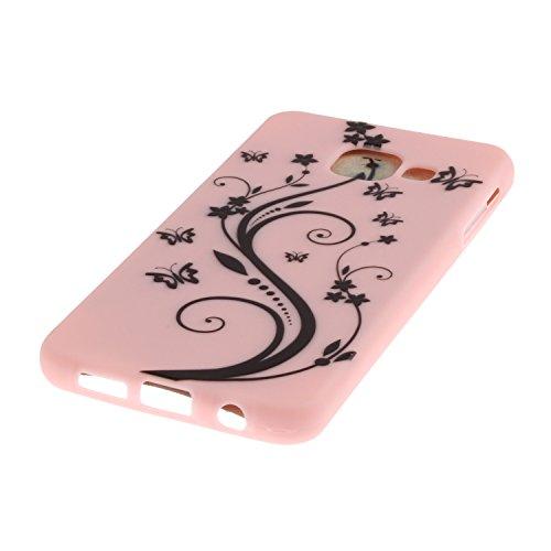 Voguecase® Pour Apple iPhone 6/6S 4,7, TPU avec Absorption de Choc, Etui Silicone Souple, Légère / Ajustement Parfait Coque Shell Housse Cover pour iPhone 6/6S 4,7 (Jaune-Love plume 01)+ Gratuit style Pink-papillons aiment fleur 01