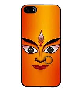 Fuson Designer Back Case Cover for Apple iPhone 5 (eyes of Durga lips nose nose oranaments)