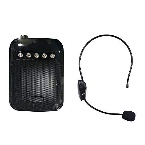Festnight UHF Mini Tragbare Voice Amp Verstärker Lautsprecher FM Radio mit Wireless Headset Mikrofon Mic Unterstützung Tf-karte