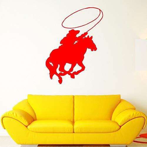 Zaosan Cowboy Poster Reiten Aufkleber Poster Vinyl Kunst Wand Applique dekorative Wandbild Denim Aufkleber (Fidelity Denim)