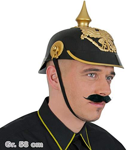 Helm Pickelhaube Kostüm - FASCHING 38214 Pickelhaube Helm NEU/OVP
