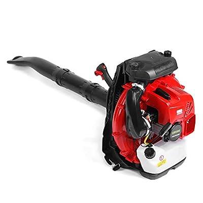 Focket Schneefräse, 2-Takt-85-cm3-Rucksack Mehrzweck-Laubbläser mit elektrischem Benzinantrieb Hand-Schneefräse-Staubentferner mit Großem Fassungsvermögen zum Reinigen von Straßen und Schnee-Pickups