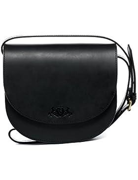 SID & VAIN Schultertasche TRISH - Umhängetasche - Damentasche festes Material - echt Sattelleder