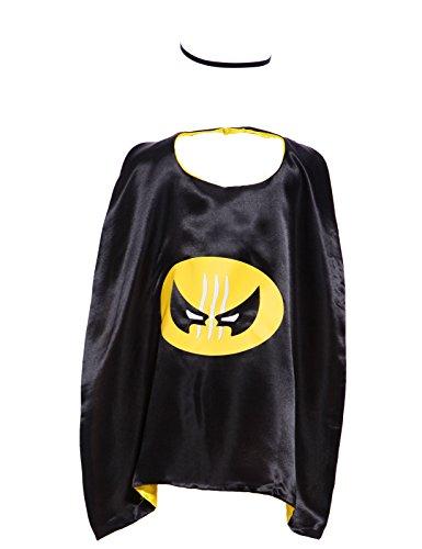 Anladia Karneval Superhero Batman Kids Cape Superhelden Umhang + Maske Kinderkostuem f Junge Maedchen Geburtstags Party Unisex (Batman Kostüm 1 Jahr Alt)
