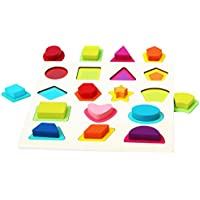 Toys of Wood Oxford Formas geometricas Madera - Rompecabezas de Madera para niños - Juguetes de Madera bebés 1 año