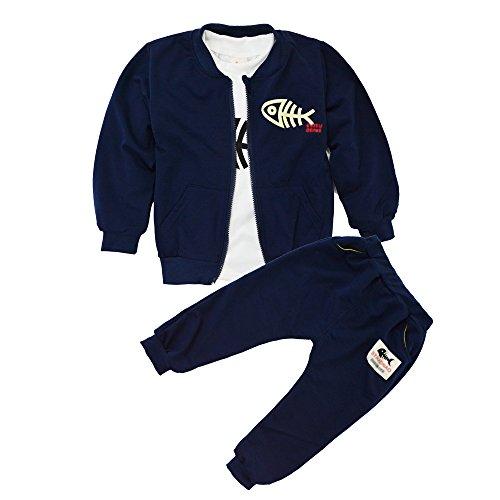 21a162a0d BINIDUCKLING Bebé Abrigo de niños+Pantalones + Camisas Conjuntos de ropa  para niños Pequeños conjuntos
