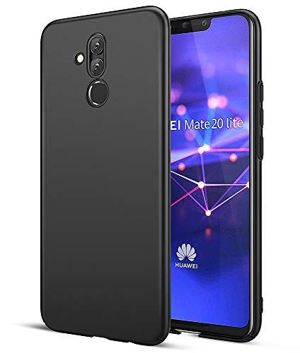 EIISSION Case Kompatibel mit Huawei Mate 20 Lite Hülle, Hardcase Ultra Dünn Huawei Mate 20 Lite Schutzhülle aus Hart-PC Case Cover Handyhülle für Huawei Mate 20 Lite- Schwarz Cp-case