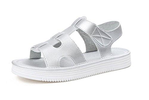 Sommer-Strandschuhe atmungsaktive weichen Boden Sandalen Frauen Silver