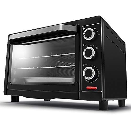 Home Multifunktions-Countertop 60-Minuten-Timer, EinschließLich Backblech, Grillnetz Und VerbrüHschutz, Backen, Braten, Toast, Schwarz 26L -