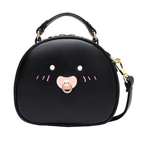 Fille élégante simple sac à bandoulière Bag Fashion Purse, Noir