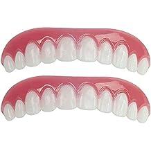 NAttnJf Dientes cosméticos realistas flexibles Los dientes cosméticos de la sonrisa de silicona se encajan en
