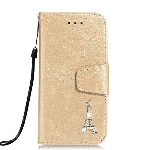 Flymaff Schutzhülle für Samsung Galaxy S8 Plus, mit Glas-Displayschutzfolie, PU-Leder, Brieftaschen-Schutzhülle mit Ständer und Klappdeckel, kompatibel mit Samsung Galaxy S8 Plus